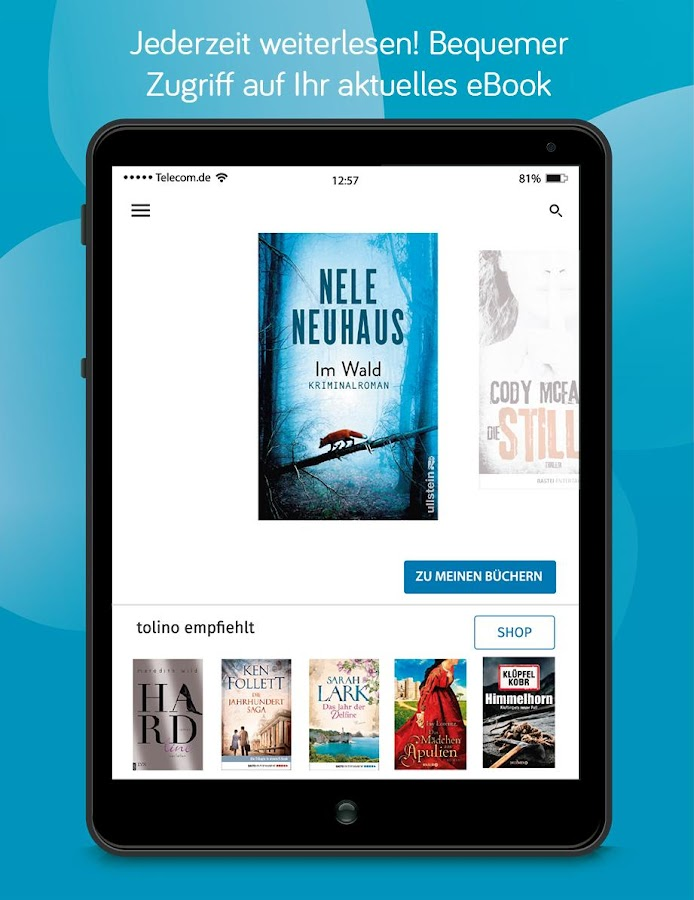 tolino Lese-App, Bücher Reader – Screenshot
