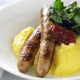 Soft Polenta with Spicy Sausages
