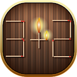 Math Puzzle With Sticks Icon