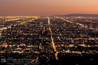 Photo: Sea of Light Los Angeles at dusk. A classic view. By the way far better to be above it all than in it.