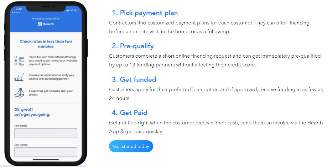 Hearth  App Landing page