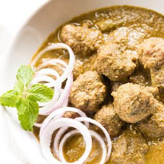 Kaccha Keema Curry(Kola Urundai Kozhumbhu)