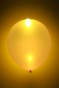 LED-ballonger, guldiga
