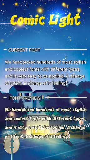 Comic Light Font for FlipFont,Cool Fonts Text Free screenshots 1