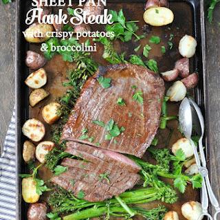 Sheet Pan Flank Steak with Crispy Potatoes and Broccolini Recipe