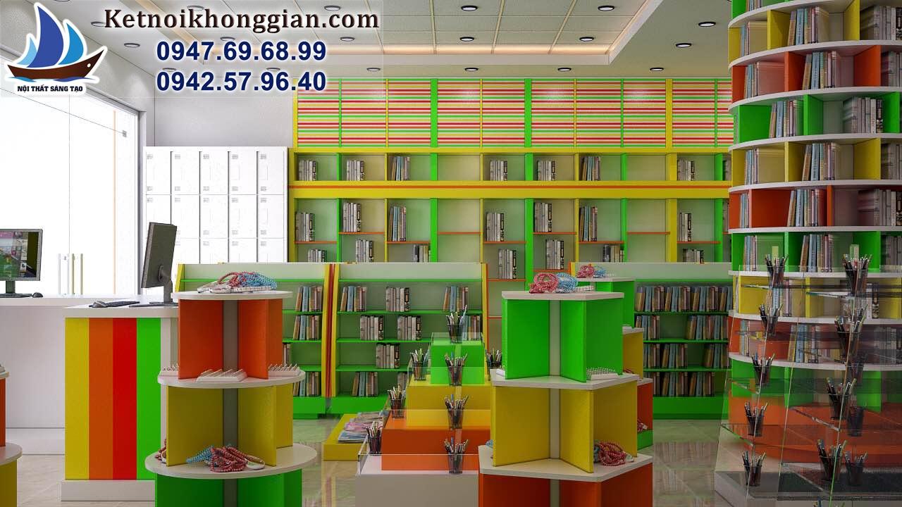 thiết kế nhà sách tối ưu về không gian