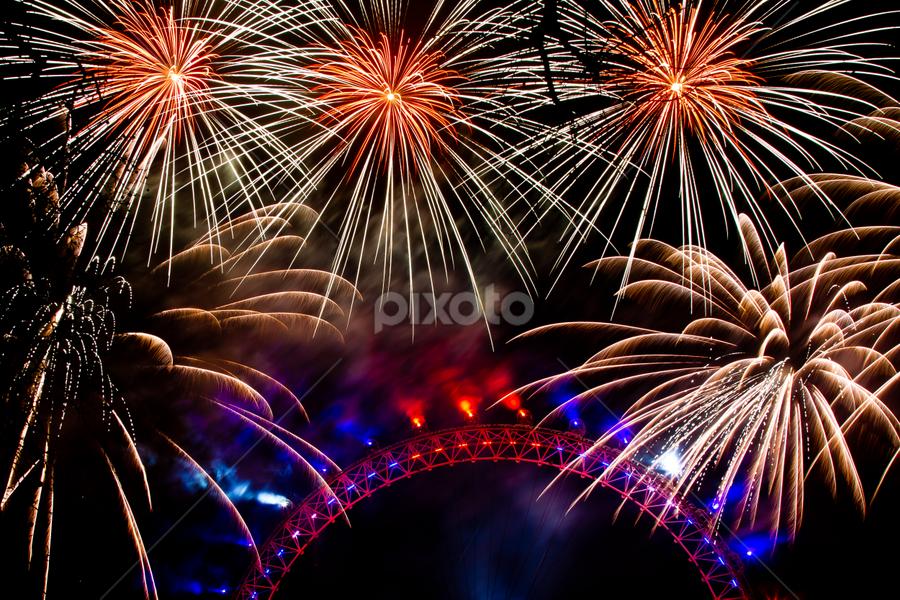Fire Magic, London by Murali Hathwar - Public Holidays New Year's Eve