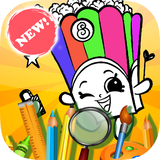 Coloring Book Shopkins Game
