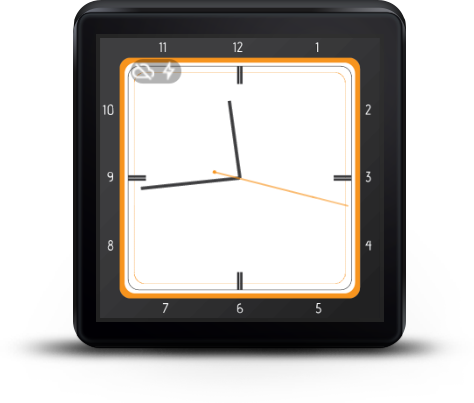 Watch Face Classic White- screenshot