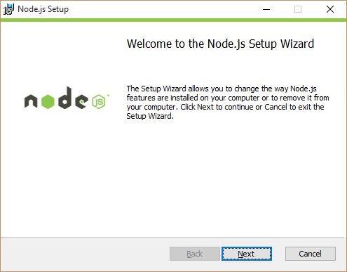 Welcome screen node installation