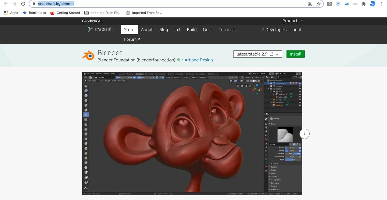 Blender Update Using Snap Store
