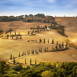 Tuscany by Ryszard Lomnicki - Landscapes Cloud Formations ( clouds, tuscany, sunset, long exposure, sunrise, italy,  )