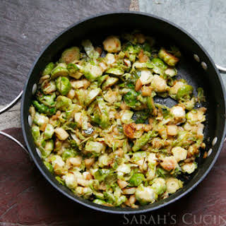 Pan Seared Shredded Brussels Sprouts and Apples (The American Diabetes Association Vegetarian Cookbook).