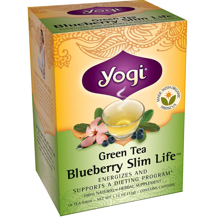 Yogi Tea, Green Tea Blueberry Slim Life, 16 Tea Bags, 1.12 oz (32 g) by Supermodels Secrets