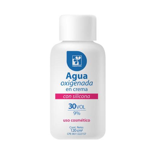 Agua Oxigenada Farmatodo vol 30 120ml  9% para teñir el cabello