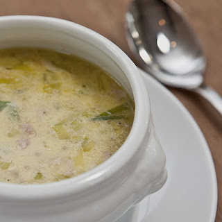 Leek Soup with Ground Beef.