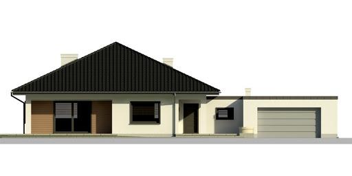 Dom przy Makowej 2 - Elewacja przednia