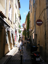 Photo: The Old Town contains, as is typical, narrow lanes like this one.