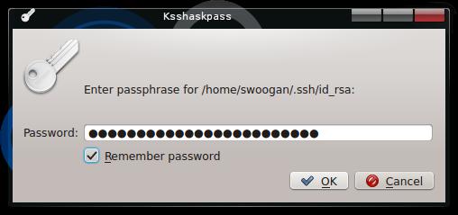 Correct SSH Dialog