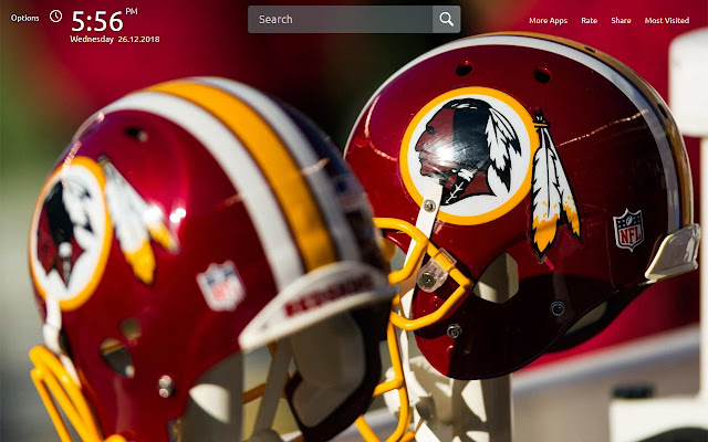 Washington Redskins Wallpapers Theme New Tab