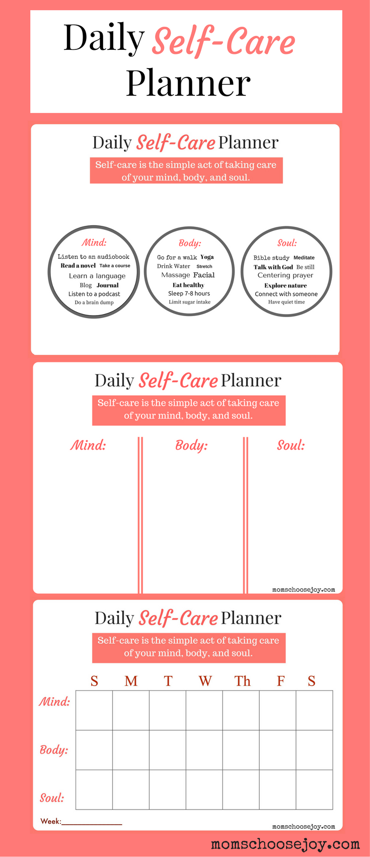 Free Daily Self-Care Planner