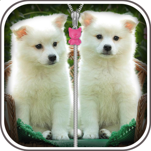 Cute Puppy Zip Screen Lock