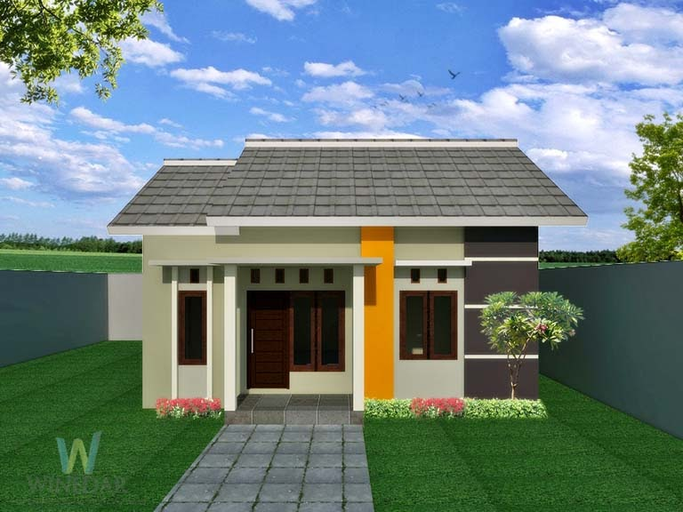 Desain 3D Rumah 1 Lantai