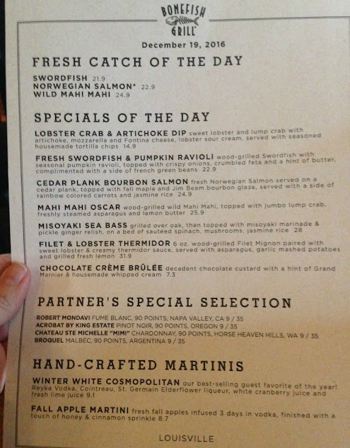 2016-2017 Bonefish Grill Winter Menu