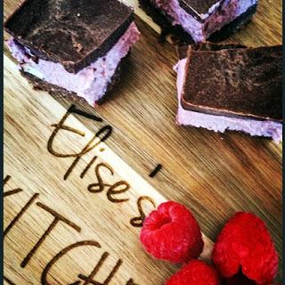 Raw Choc-Berry-Coconut Slice.