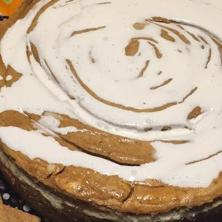 Marbled Pumpkin Spice Cheesecake.