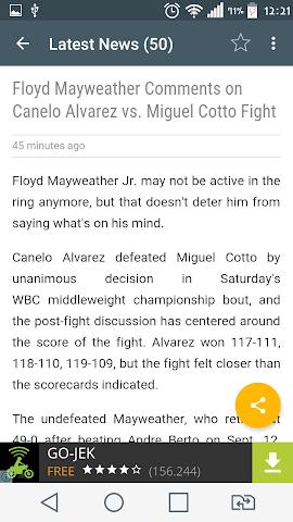 android Boxing News Screenshot 1