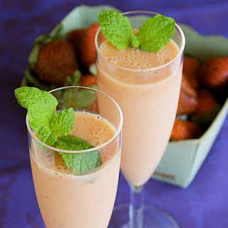 Mango-Ginger-Strawberry Smoothie.
