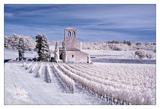 Photo: Eglise de Cabanac and Vineyards (Clive Haynes)