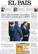 Photo: Rajoy salva la cumbre autonómica con un pacto mínimo para el déficit, Rivero y Soler presentan un concurso de acreedores por 1.600 millones, los recortes reducen el empleo al mínimo en nueve años y el 94% de los españoles sufre niveles dañinos de contaminación, entre los titulares de nuestra portada del 3 de octubre de 2012. http://srv00.epimg.net/pdf/elpais/1aPagina/2012/10/ep-20121003.pdf