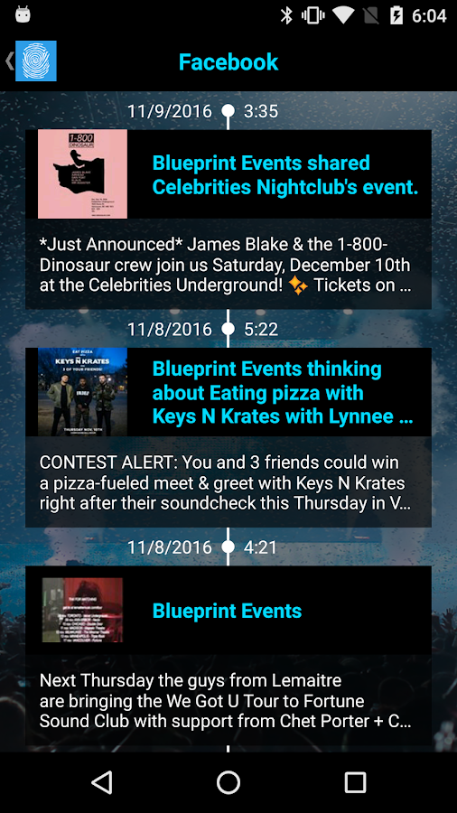 Blueprint events android apps on google play blueprint events screenshot malvernweather Images