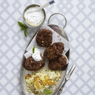Turkish Koftas with Mint Yogurt.