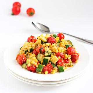 Sautéed Zucchini, Corn & Blistered Tomatoes