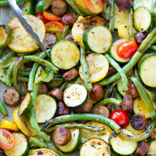 Marinated Grilled Summer Veggies + Sausage Recipe