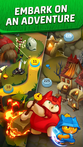 Cat Force - Free Puzzle Game apkslow screenshots 4