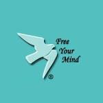 a logo with a dove that says free your mind