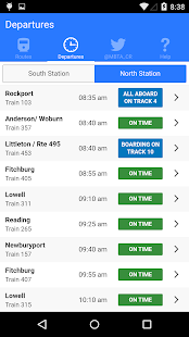 MBTA Commuter Rail Tracker- screenshot thumbnail