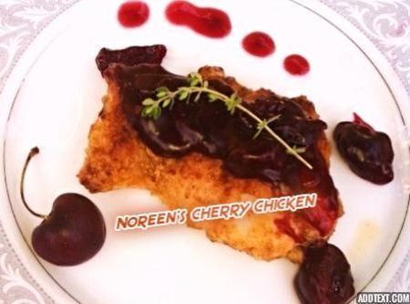 Chicken Thighs With Cherry Wine Sauce Recipe