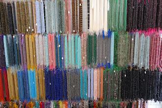 Photo: Look at these beads. They had lovely completed pieces too