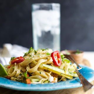 Asian Noodle Salad with Spicy Thai Dressing.