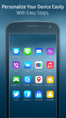Launcher Theme for New Phone 7 - screenshot