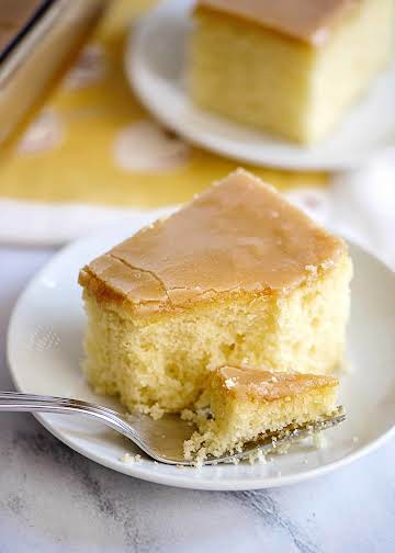 Yellow Cake with Old Fashioned Peanut Butter Icing - Southern Plate