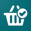 Shopping list. Notepad icon