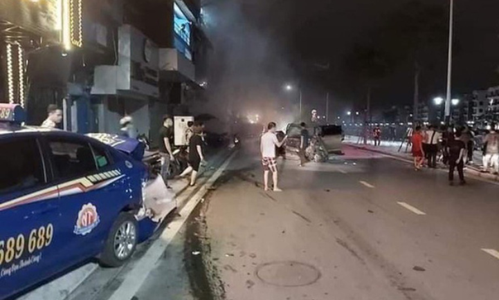 Khởi tố thiếu gia ngành thép lái Lexus đâm chết công an, phá hư hàng loạt phương tiện - ảnh 1