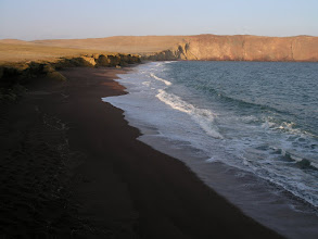Photo: Red sand beach in Paracas.