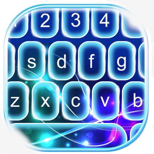 Blue Neon Keyboard Changer